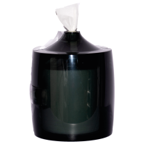 BLACK PLASTIC WALL MOUNT WIPE DISPENSER
