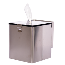 STAINLESS STEEL SQUARE WALL MOUNT WIPE DISPENSER